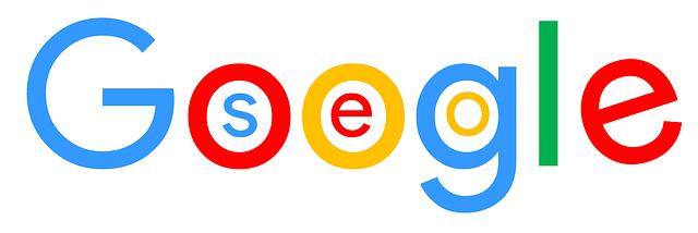 Googles logo med SEO inkorporeret