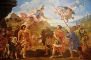 Achilleus i den trojanske krig, en illustration af historien i Illiaden